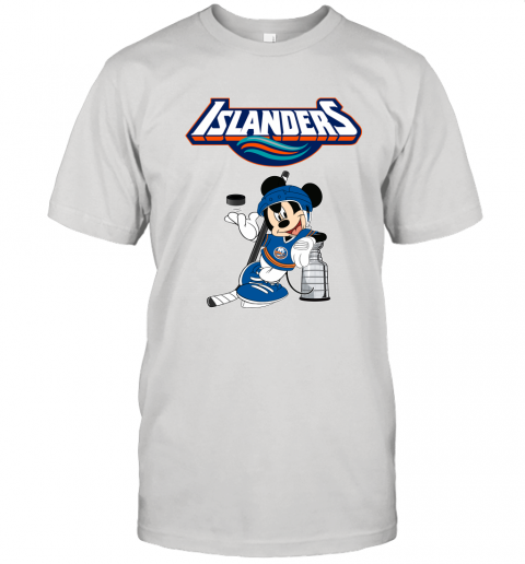 Mickey New York Islanders With The Stanley Cup Hockey NHL Unisex Jersey Tee