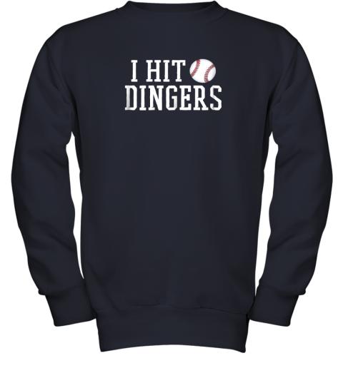 rwc2 i hit dingers shirt for sluggersfunny baseball youth sweatshirt 47 front navy