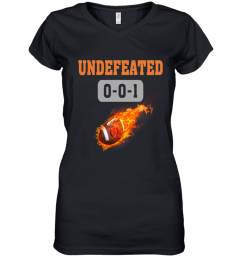 NFL CHICAGO BEARS LOGO Undefeated Women's V-Neck T-Shirt