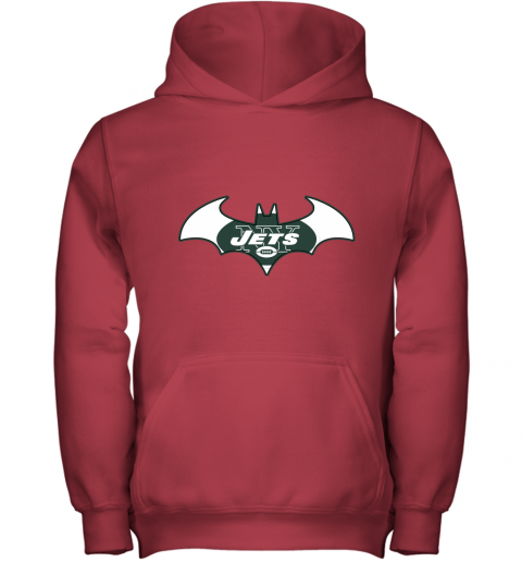 9ugy we are the new york jets batman nfl mashup youth hoodie 43 front red