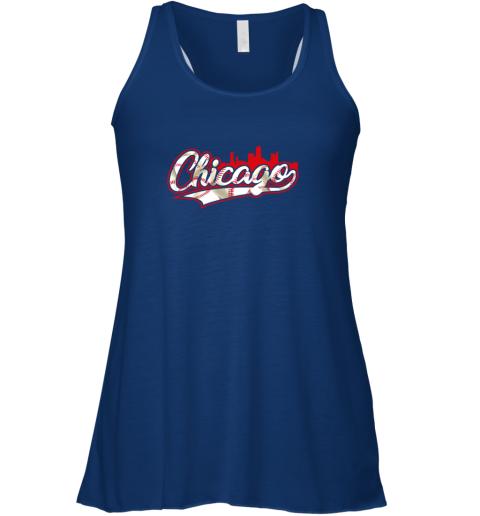 gl7y chicago vintage baseball flowy tank 32 front true royal