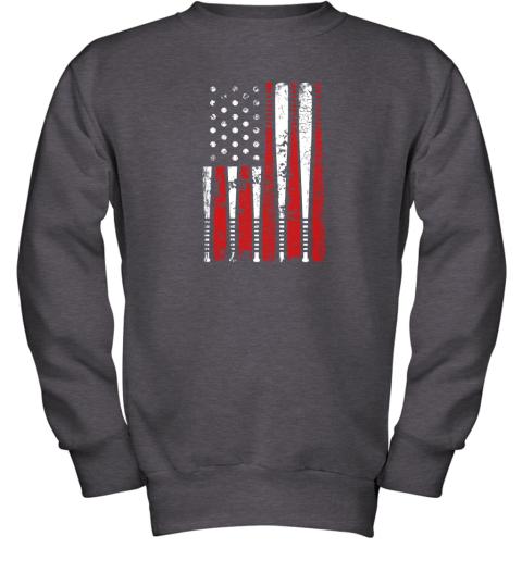 8tgx vintage baseball bat american usa flag gift youth sweatshirt 47 front dark heather