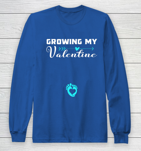 Cute Growing my Valentine Gift for Women pregnancy Long Sleeve T-Shirt 6