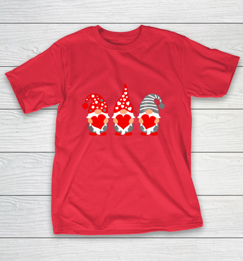 Gnomes Hearts Valentine Day Shirts For Couple T-Shirt 9