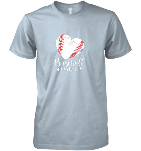 oyow funny baseball nana shirt gift for men women premium guys tee 5 front light blue