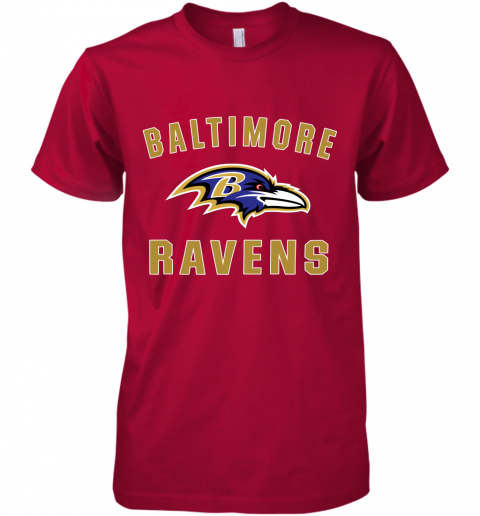 bns3 mens baltimore ravens nfl pro line by fanatics branded gray victory arch t shirt premium guys tee 5 front red