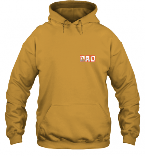 xpv2 mens baseball inspired dad fathers day distressed hoodie 23 front gold