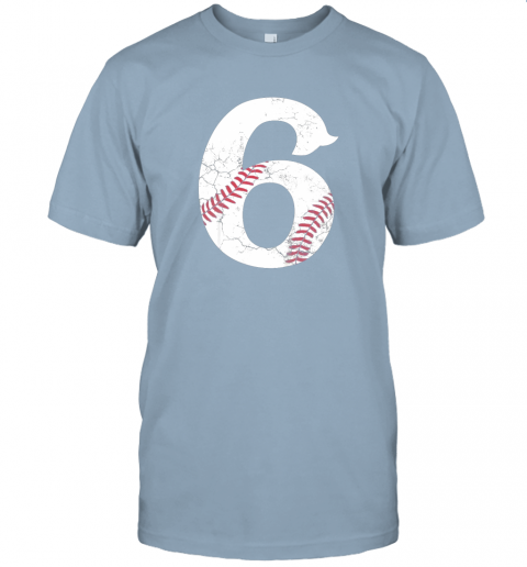 68a2 kids happy birthday 6th 6 year old baseball gift boys girls 2013 jersey t shirt 60 front light blue