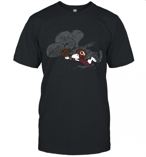 Washington Redskins Snoopy Plays The Football Game Unisex Jersey Tee