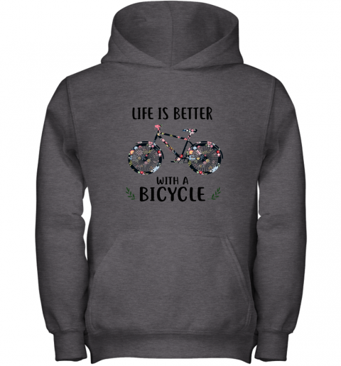 sx33 life is better with a bicycle youth hoodie 43 front dark heather