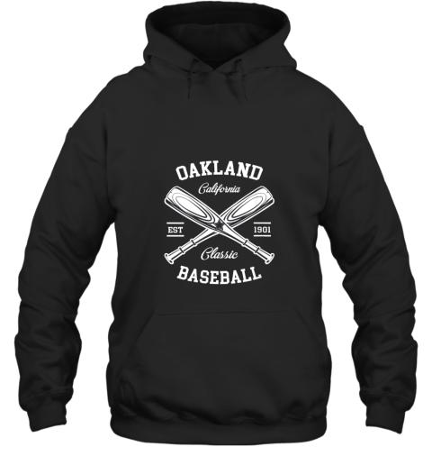 Oakland Baseball, Classic Vintage California Retro Fans Gift Hoodie