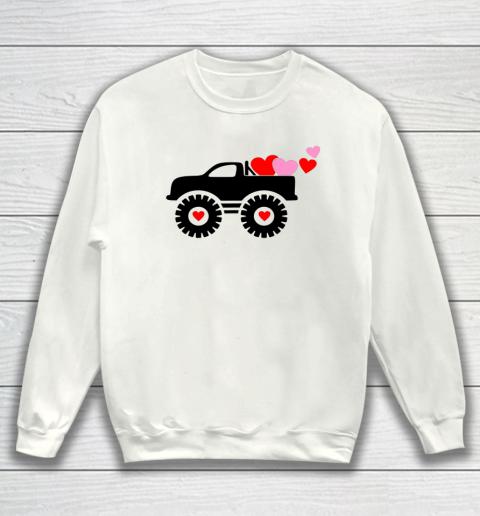 Valentine Monster Truck Loads of Love Hearts Shirt Gift Sweatshirt