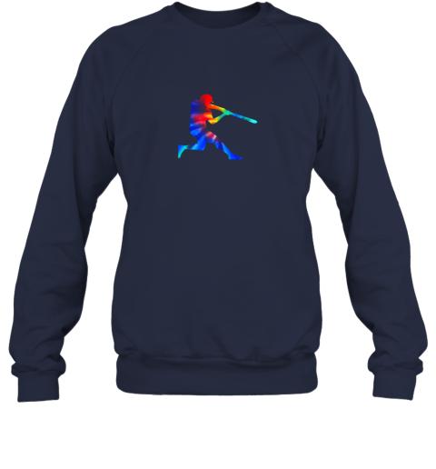 8eak tie dye baseball batter shirt retro player coach boys gifts sweatshirt 35 front navy