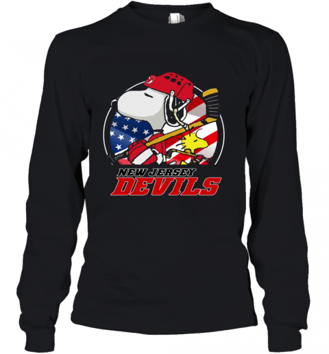 New Jersey Devils  Snoopy And Woodstock NHL Youth Long Sleeve
