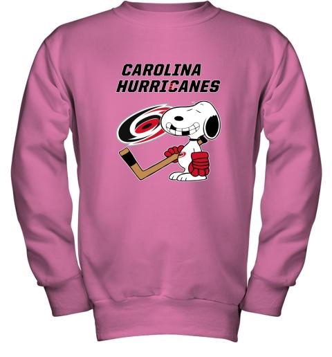 Carolina Hurricanes Ice Hockey Broken Teeth Snoopy NHL Youth Sweatshirt