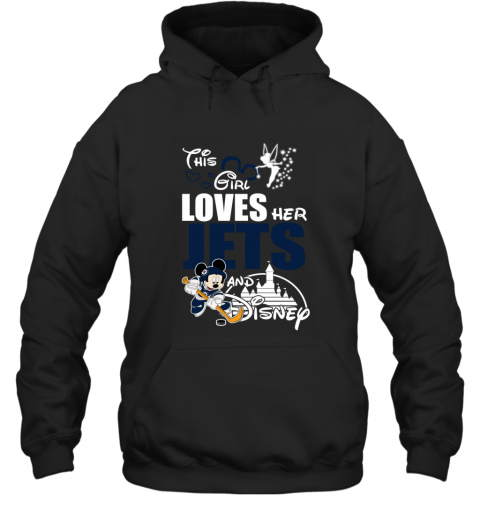 Girl Love Her WINNIPEG JETS And Mickey Disney Hoodie