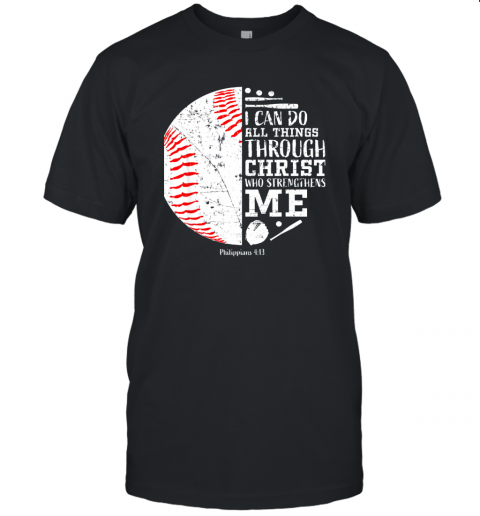 Christian Baseball Shirts I Can Do All Things Through Christ Unisex Jersey Tee