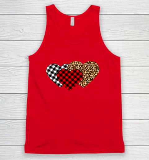 Leopard Heart Buffalo Plaid Heart Valentine Day Tank Top 5