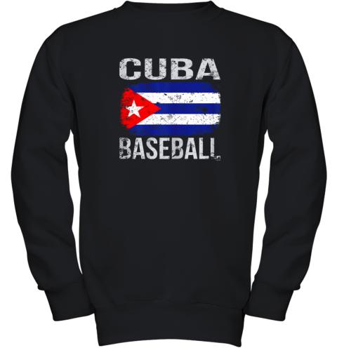 Cuba Baseball, Cuban Flag Youth Sweatshirt