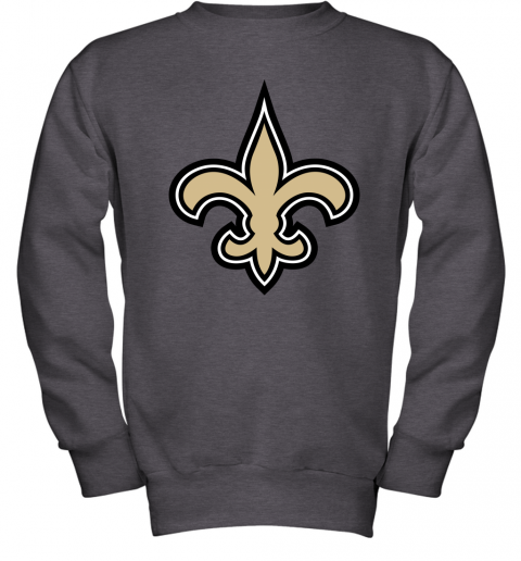 o7io orleans saints nfl pro line gray victory youth sweatshirt 47 front dark heather