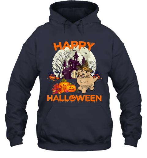 Pumpkin Goldendoodle Happy Halloween Dog Gift Hoodie