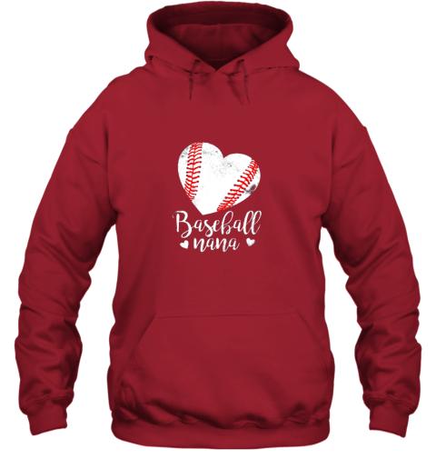 ztmy funny baseball nana shirt gift for men women hoodie 23 front red