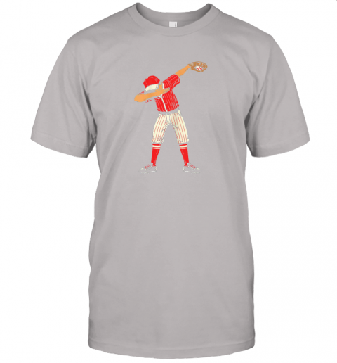 lo1e dabbing baseball catcher gift shirt kids men boys bzr jersey t shirt 60 front ash