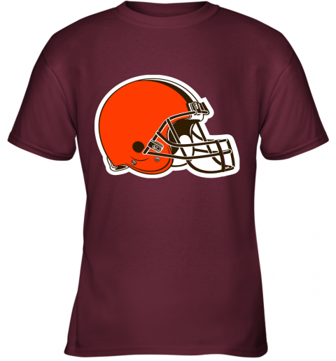 iozq cleveland browns nfl pro line by fanatics branded brown victory youth t shirt 26 front maroon