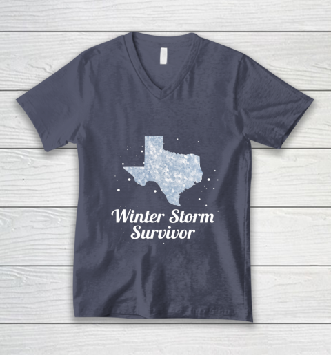 I Survived Winter Storm Texas 202 V-Neck T-Shirt 7