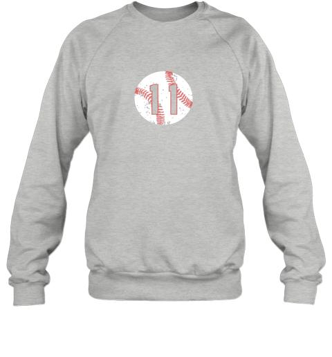 dd73 vintage baseball number 11 shirt cool softball mom gift sweatshirt 35 front sport grey