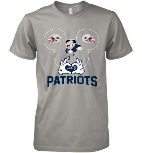 yeyk i love the patriots mickey mouse new england patriots premium guys tee 5 front light grey