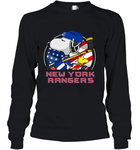 New York Ranger Ice Hockey Snoopy And Woodstock NHL Youth Long Sleeve