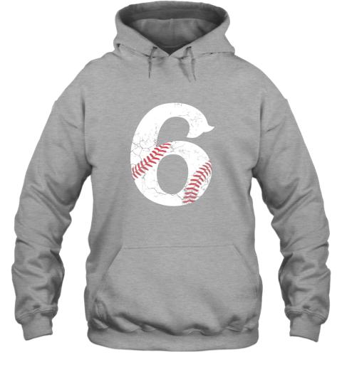 f1zu kids happy birthday 6th 6 year old baseball gift boys girls 2013 hoodie 23 front sport grey