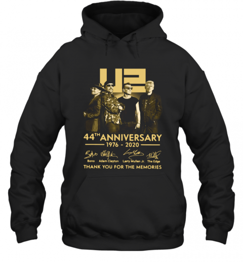 U2 44Th Anniversary Thank You For The Memories Signatures Hoodie