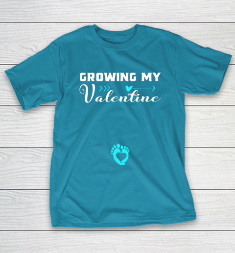 Cute Growing my Valentine Gift for Women pregnancy T-Shirt 7