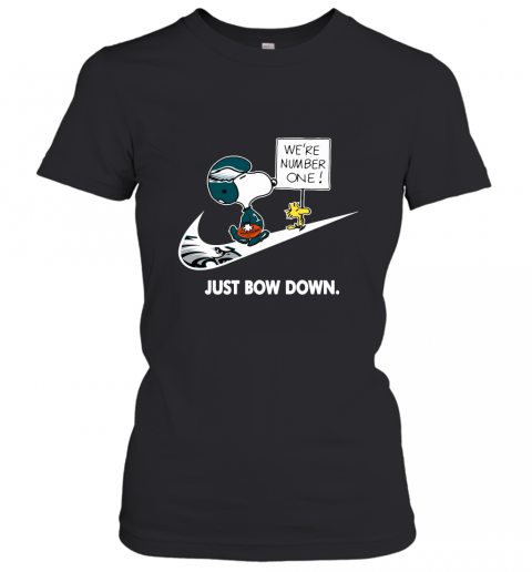 Philadelphia Eagles Are Number One – Just Bow Down Snoopy Women's T-Shirt