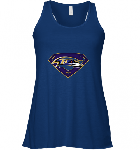 vnir we are undefeatable the baltimore ravens x superman nfl flowy tank 32 front true royal
