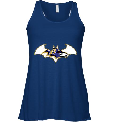 vhxx we are the baltimore ravens batman nfl mashup flowy tank 32 front true royal