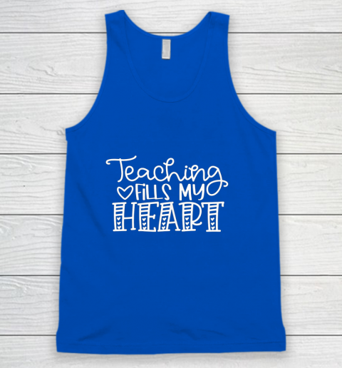 Teaching Fills My Heart Valentine Cute Love Teacher Student Tank Top 4