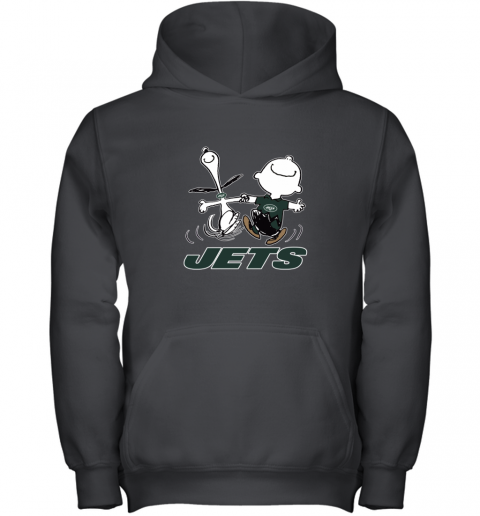 Snoopy And Charlie Brown Happy New York Jets NFL Youth Hoodie