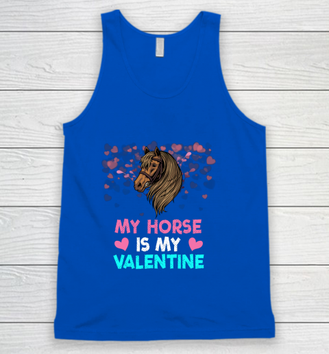 My Horse Is My Valentine Loved Horse Women Gifts Tank Top 4