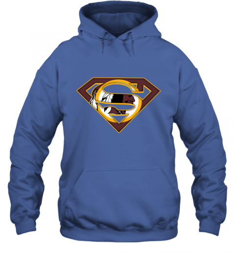 67kt we are undefeatable the washington redskins x superman nfl hoodie 23 front royal