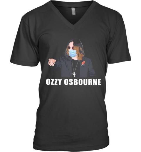 Nice Ozzy Osbourne Mask Covid 19 V-Neck T-Shirt