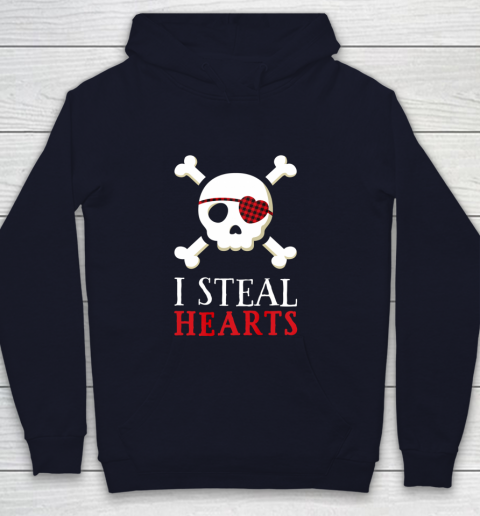 I Steal Hearts T Shirt Boy Girl Toddler Skull Valentine Gift Youth Hoodie 2