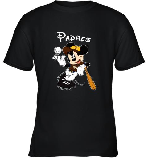 Baseball Mickey Team San Diego Padres Youth T-Shirt
