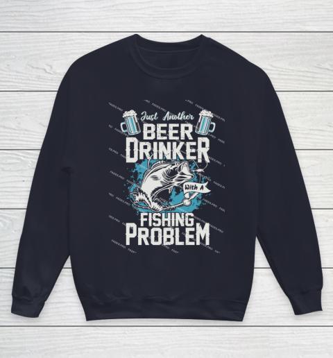Beer Lover Funny Shirt Fishing ANd Beer Youth Sweatshirt 2