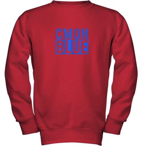 5774 cmon blue umpire baseball fan graphic lover gift youth sweatshirt 47 front red