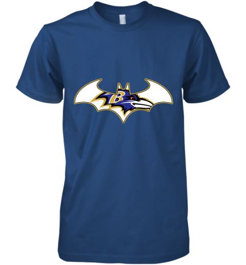 pdry we are the baltimore ravens batman nfl mashup premium guys tee 5 front royal