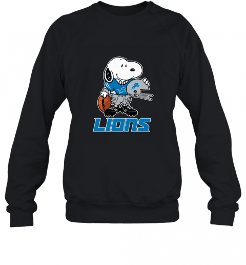 Snoopy A Strong And Proud Detroit Lions Player NFL Sweatshirt