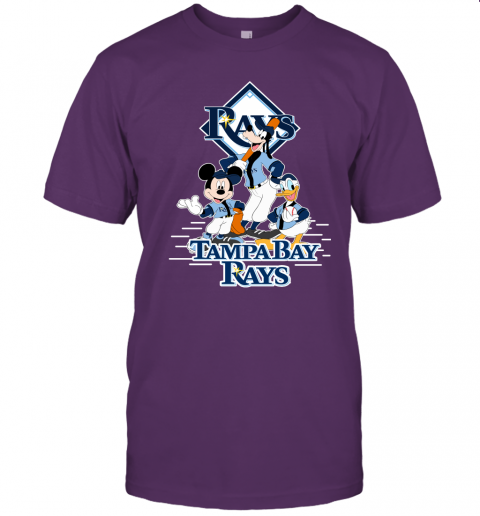 ht9i tampa bay rays mickey donald and goofy baseball jersey t shirt 60 front team purple
